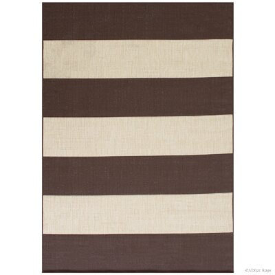 Kirree All Weather Chocolate Indoor/Outdoor Area Rug Rug Size: 5 x 7