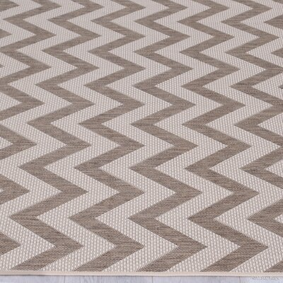 Farley Mocha Indoor/Outdoor Area Rug Rug Size: 5 x 7
