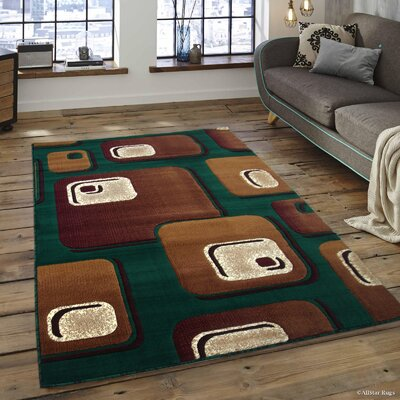 Spencer Green Area Rug Rug Size: 710 x 102
