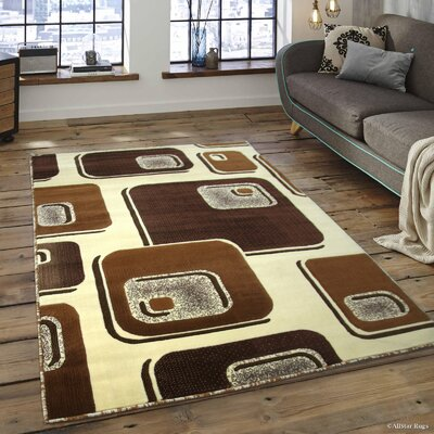 Spencer Ivory Area Rug Rug Size: 52 x 72