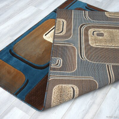 Spencer Light Blue Area Rug Rug Size: 52 x 72