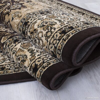 Arison High-End Ultra-Dense Thick Woven Chocolate Area Rug Rug Size: 53 x 75