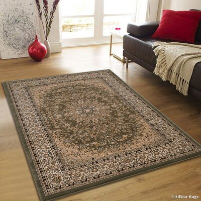 Arison High-End Ultra-Dense Thick Woven Sage Green Area Rug Rug Size: 53 x 75