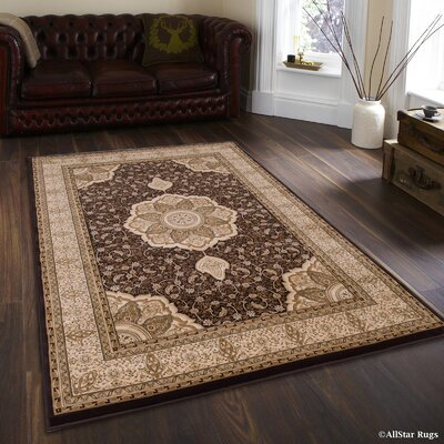 Higgins Chocolate Area Rug Rug Size: 53 x 75