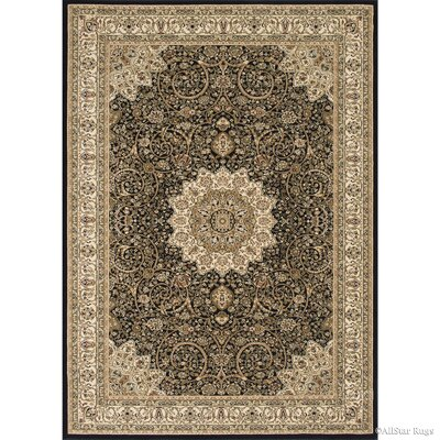 Arquette Black Area Rug Rug Size: 53 x 75