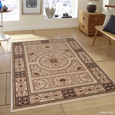 Hubbard High-End Ultra-Dense Ivory Area Rug Rug Size: 67 x 93