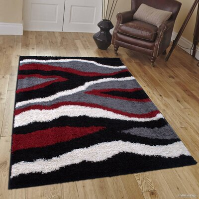 Humphrey Red Area Rug Rug Size: 5 x 7