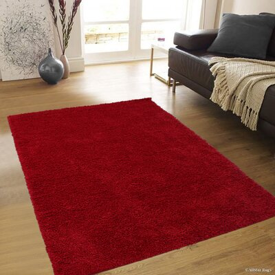Karst Red Area Rug Rug Size: 5' x 7'