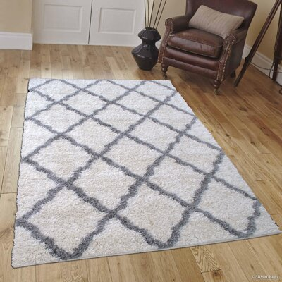 Abbey Ivory Gray Area Rug Rug Size: 5 x 7