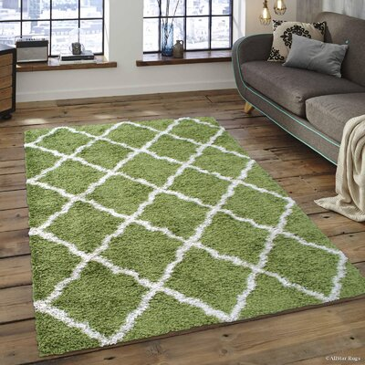 Abbey Green Area Rug Rug Size: 79 x 10