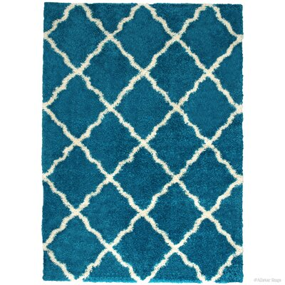 Abbey Turquoise Area Rug Rug Size: 5 x 7