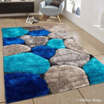 Keech Blue Area Rug Rug Size: 411 x 611