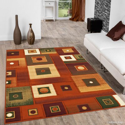 Fuller Rust Area Rug Rug Size: 7'10