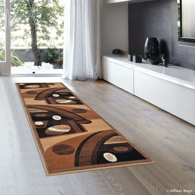 Jacobson Brown Area Rug Rug Size: 52 x 72