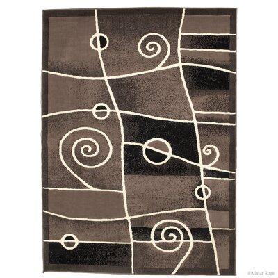 Almont Combo Chic Swirl Khaki Area Rug Rug Size: 710 x 102