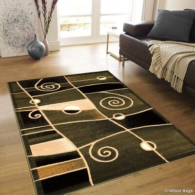 Almont Combo Chic Swirl Sage Green Area Rug Rug Size: 710 x 102