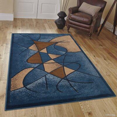 Schaefer Aqua Blue Area Rug Rug Size: 710 x 102