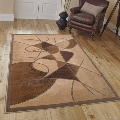 Schaefer Brown Area Rug Rug Size: 52 x 72
