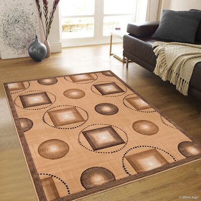 Hand-Woven Brown Area Rug Rug Size: Rectangle 52 x 72