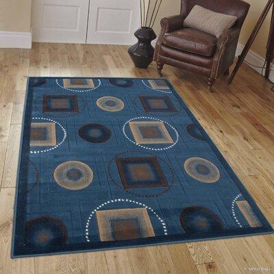 Karsten Blue Area Rug Rug Size: 7'10