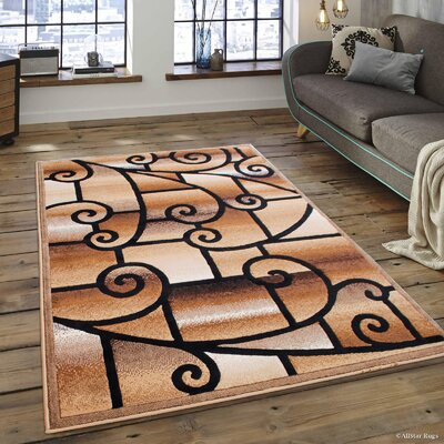 Alicia Carpet Berber Area Rug Rug Size: 52 x 72