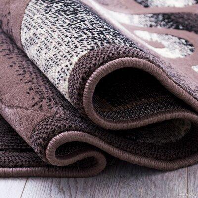 Alicia Carpet Khaki Area Rug Rug Size: 52 x 72