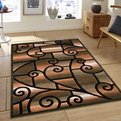 Alicia Sage Green Area Carpet Rug Rug Size: 52 x 72