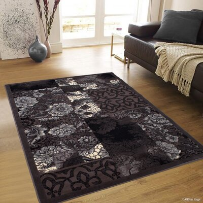 Alicia Floral Khaki Area Rug Rug Size: 710 x 102