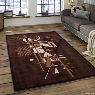 Kayser Rectangle Chocolate Area Rug Rug Size: 52 x 72