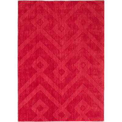 Ramage Ultra-Soft High-Quality Wool Red Area Rug Rug Size: 411 x 7