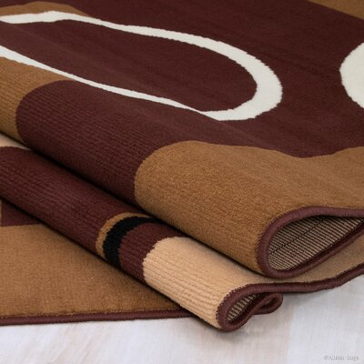 Mcdowell Brown Area Rug Rug Size: 77 x 106