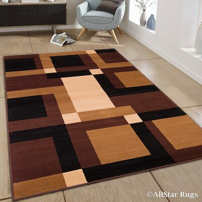 Cline Brown Area Rug Rug Size: 52 x 71