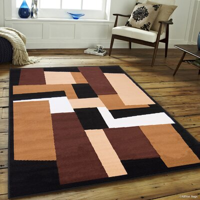 Willy Black Area Rug Rug Size: 7'7