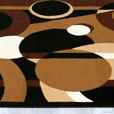 Buser Brown Indoor Area Rug Rug Size: 77 x 106