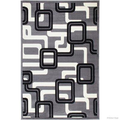 Barnes Gray Area Rug Rug Size: 52 x 71