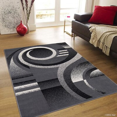 Parsons Gray Area Rug Rug Size: 77 x 106