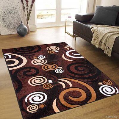 Parsons Black Area Rug Rug Size: 77 x 106