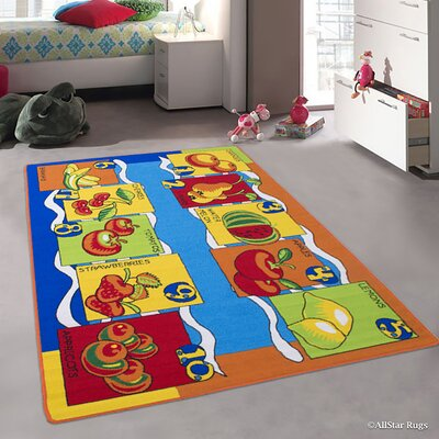 Andre Kids Orange/Blue Area Rug Rug Size: 33 x 410