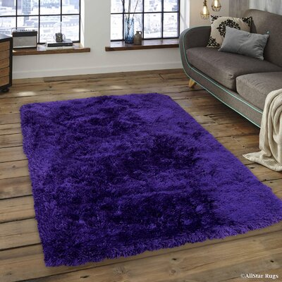 Keaney Faux Sheepskin Purple Area Rug Rug Size: 411 x 7