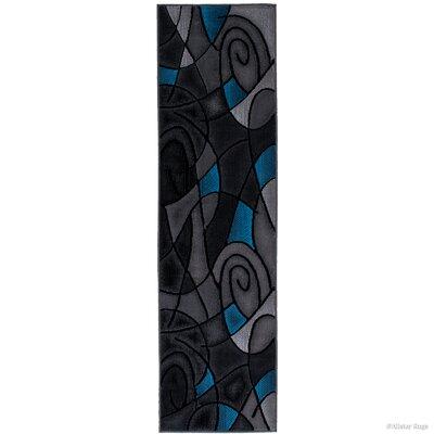 Keefe Blue Area Rug Rug Size: Runner 23 x 611