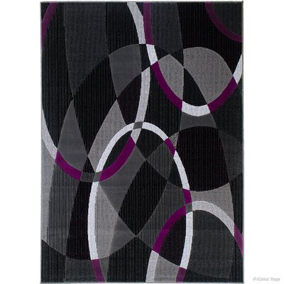 Keeler High Quality Exclusive Drop-Stitch Linear Designed Purple Area Rug Rug Size: 710 x 10