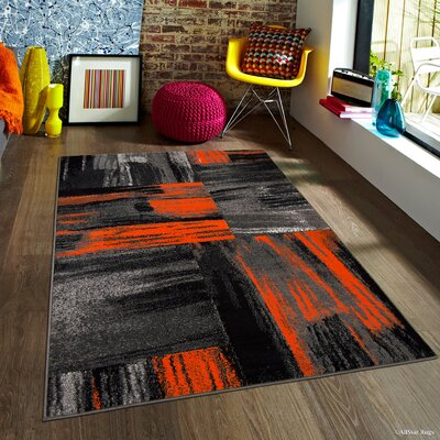Keeler Orange Area Rug Rug Size: 5 x 611