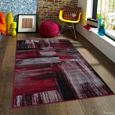 Keeler Red Area Rug Rug Size: 5 x 611