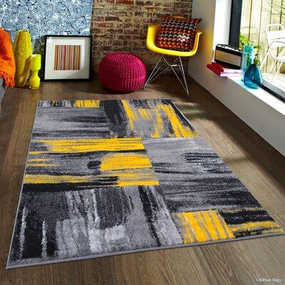Keeler Yellow Area Rug Rug Size: 710 x 10