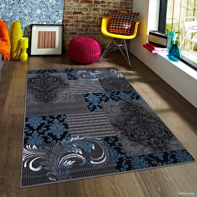 Butler High-Quality Assorted Floral Blue Area Rug Rug Size: Rectangle 5 x 611