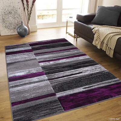 Ingram High-Quality Purple Area Rug Rug Size: 710 x 10