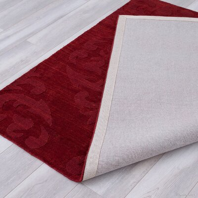 Alicia Ultra-Soft High-Quality Wool Bold Designed Burgundy Area Rug Rug Size: 711 x 911