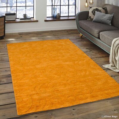 Alicia Ultra-Soft High-Quality Wool Bold Designed Mango Area Rug Rug Size: 411 x 7