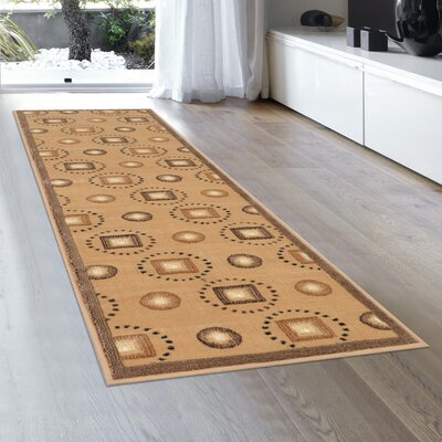 Hand-Woven Brown Area Rug Rug Size: Runner 2 x 72
