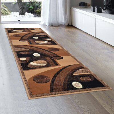 Jacobson Brown Area Rug Rug Size: Runner 2' x 7'2